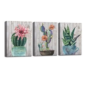 Cactus succulent canvas